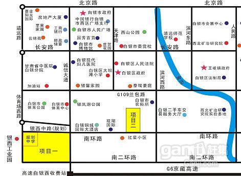 甘肃白银市白银国际酒店旁56亩商住用地紧急招商-图(1)