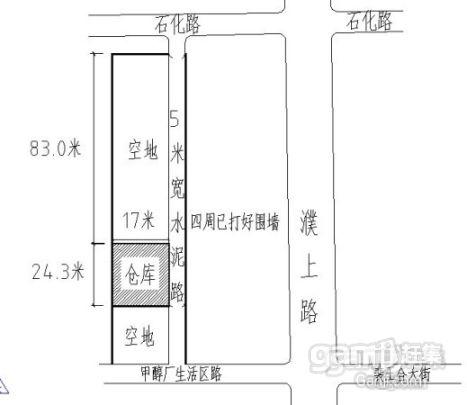 濮上路石化路交叉仓库出租-图(3)