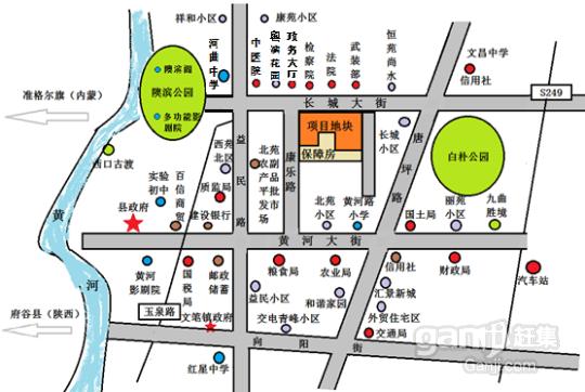 7月10日拍卖山西忻州河曲老城区紧俏商住地块-图(1)