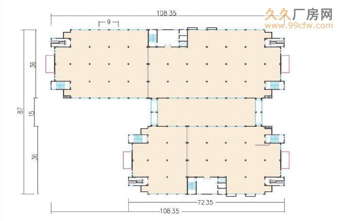 国际工业城新建标准化多层厂房(第三层出租)-图(5)