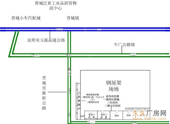 晋宁晋城厂房商铺招租-图(1)
