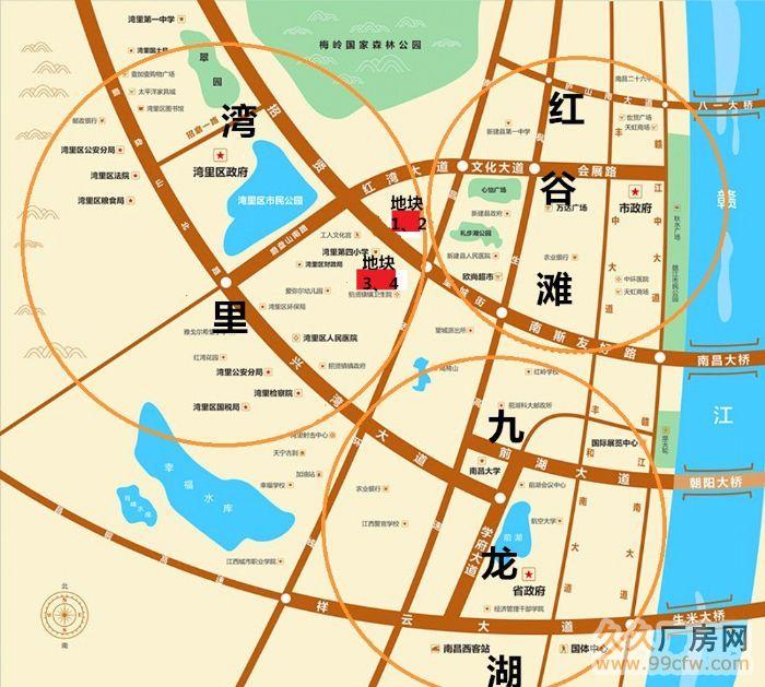 江西省南昌市湾里区第三轮旧城改造项目出让-图(1)