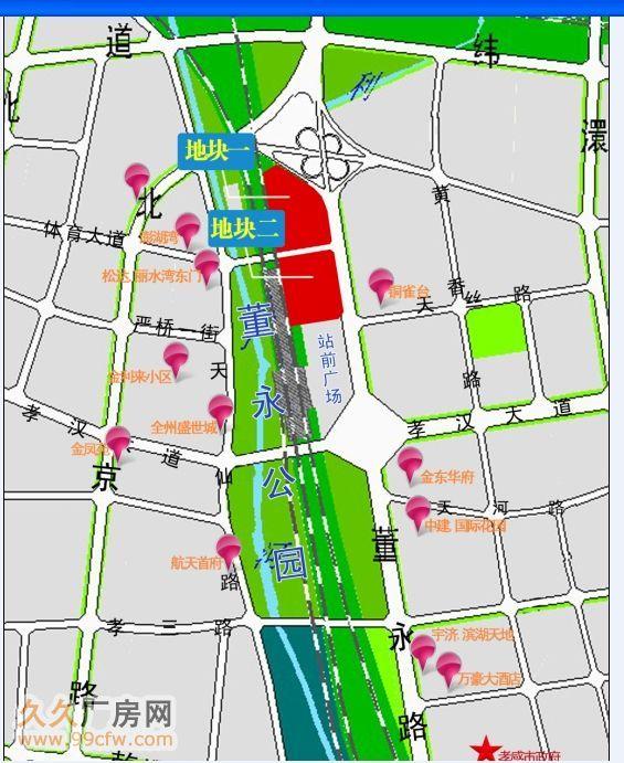 大型商业综合体用地-孝感市265亩土地230万/亩(城际铁-图(1)