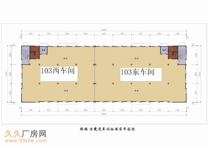 厂房标准:三层框架式花园标准厂房!