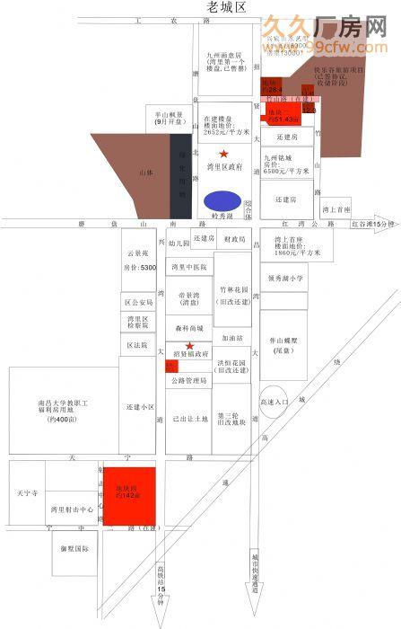 江西南昌市湾里区核心位置4宗商住用地出让-图(1)