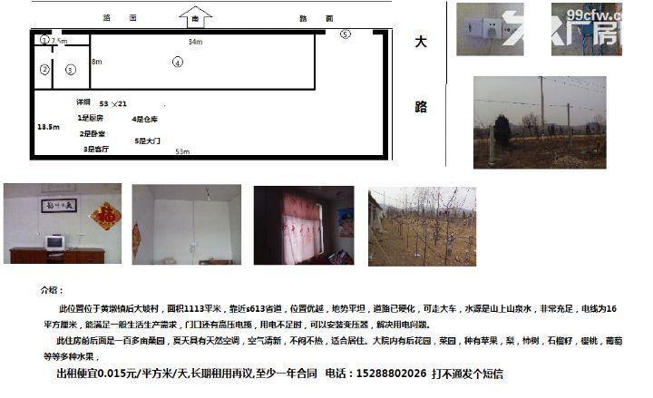 交通便利,水电齐全,0.015元/m²/天-图(1)