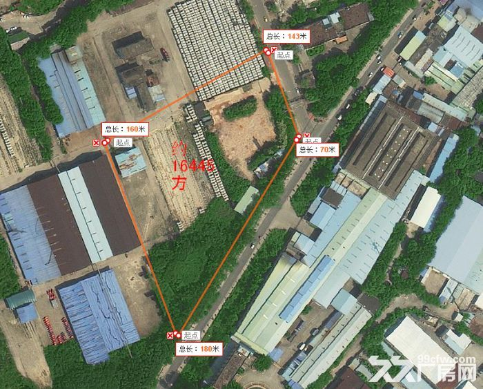 从化区78亩,74亩,35亩,国有证工业土地,厂房出售,-图(1)