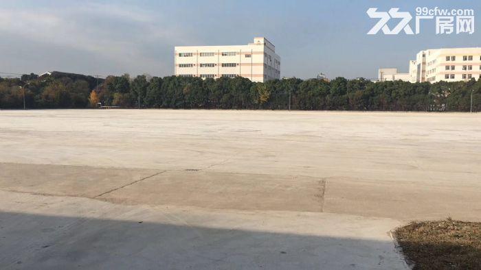 青浦工业区30亩水泥硬化空地和4000平方单层厂房仓库出租,绿证-图(1)