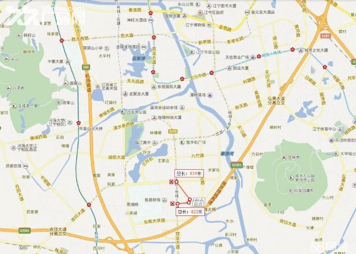 江宁开发区位置极佳,东南大学双龙大道土地和厂房出售-图(7)
