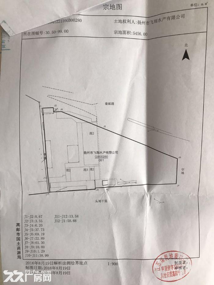 高邮水产加工型厂房,土地低价出售,证件资质齐全,可以立即生产-图(7)