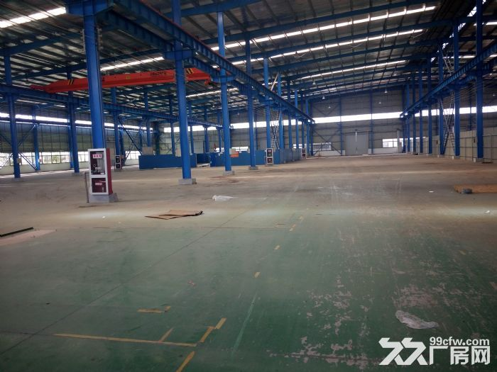 汊河开发区4跨6500平厂房出租高12米,有行车,可分租有精装办公室宿舍可-图(1)