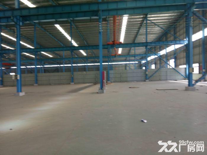 汊河开发区4跨6500平厂房出租高12米,有行车,可分租有精装办公室宿舍可-图(2)