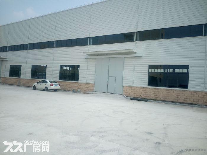 汊河开发区4跨6500平厂房出租高12米,有行车,可分租有精装办公室宿舍可-图(3)