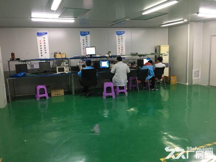 凤岗五联精装修带绿色地坪漆厂房招租800平无尘车间-图(4)