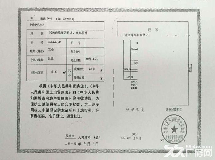 青岛西海岸新区土地厂房出售-图(1)
