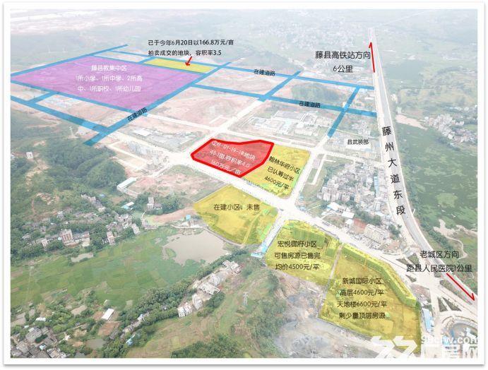 广西省藤县城区中心2宗商住用地出让-图(3)