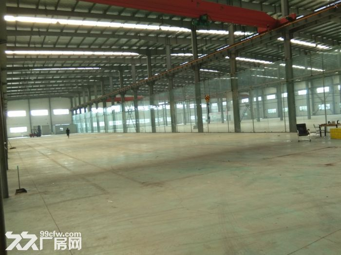 非中介!安镇单层机械厂房2600平米可分租1300平米,行车两部5吨-图(4)