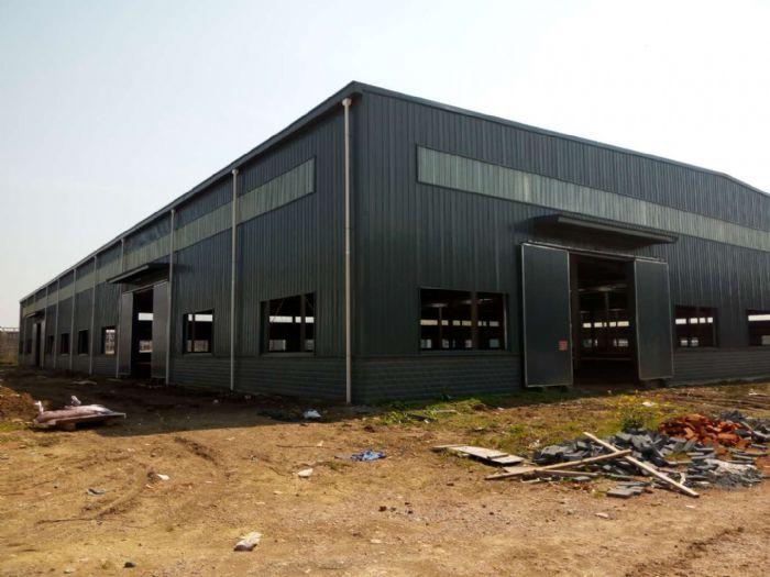 出租湖北省汉川市城北产业园钢构厂房15000平方-图(1)