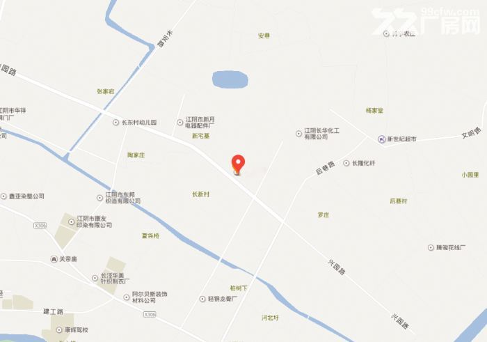 江阴长泾镇兴园路70号24326平米工业土地出售-图(1)