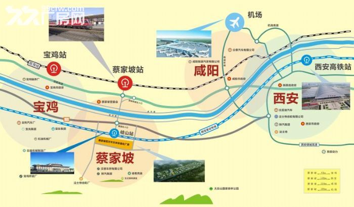 蔡家坡百万平米标准化厂房仓储物流区可租可售50年产权-图(4)