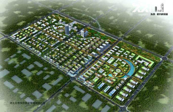 东创恒升科技园40亩带指标工业地出售,可以自由分割成10亩或20亩,50年大产权-图(1)
