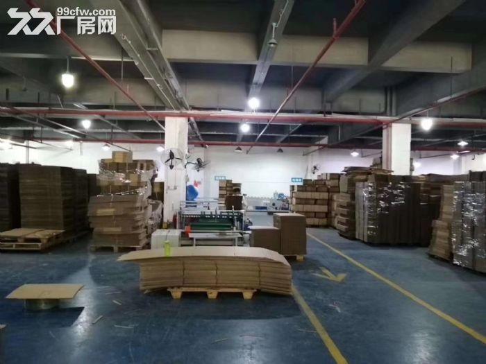 凤岗雁田布心工业园一楼厂房出租2100平水电到车间办公室现成地坪漆-图(1)