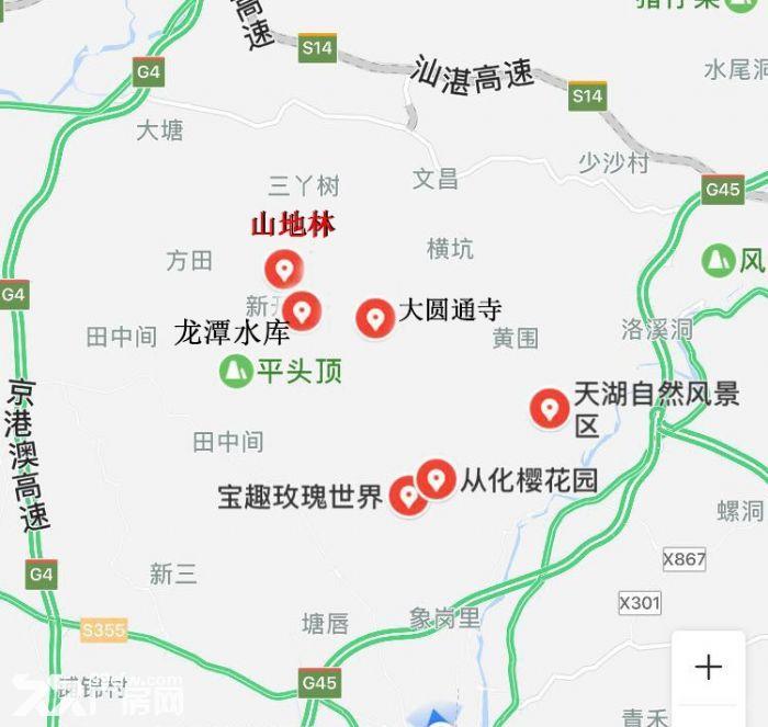 广州从化区龙潭水库旁140亩山地林出售-图(5)