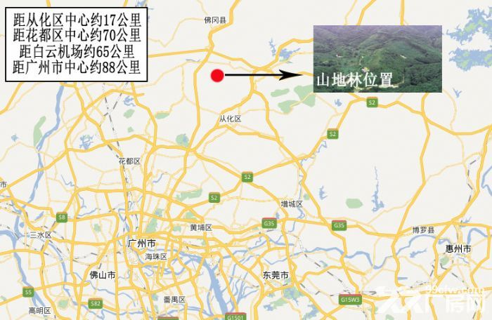 广州从化区龙潭水库旁140亩山地林出售-图(7)