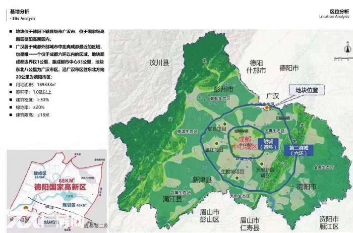 广汉向阳镇青白江旁土地分割-图(1)
