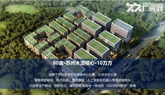 非中介苏州胥口、木渎、甪直、园区、常熟新建产业园独栋厂房售租50年国土-图(4)