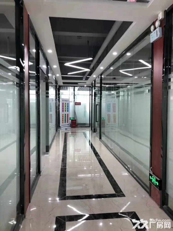 坂田杨美地铁站500米新装修办公室144平至2000平大小可分-图(7)