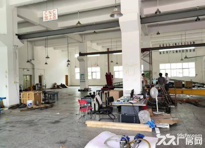 广州白云一楼1000平装修带阁楼行车厂房出租-图(1)