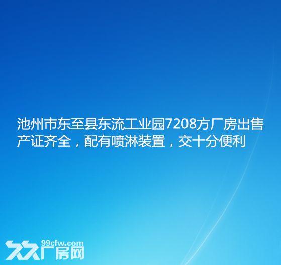 池州市东至县东流工业园7208方厂房出售-图(1)