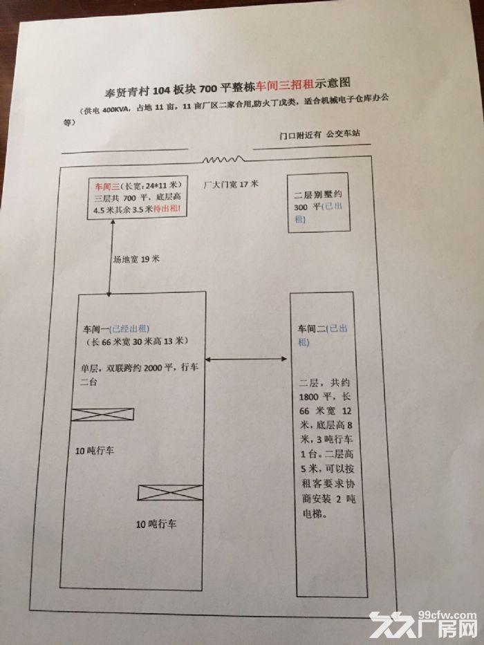 出租104板块三层700平奉贤青村厂房-图(6)