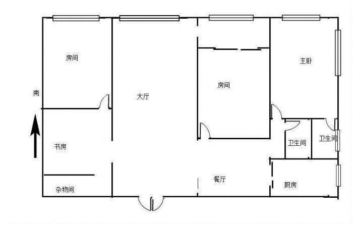 西湖邮电小区新华北路西隅开元盛世西街大三房中层-图(7)